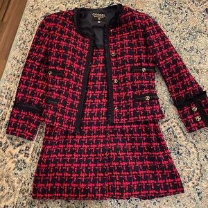 Classic Chanel tweed two piece suit
